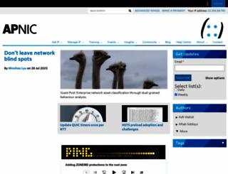 blog.apnic.net screenshot