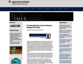 blog.appraisalinstitute.org screenshot