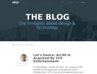 blog.arc90.com screenshot