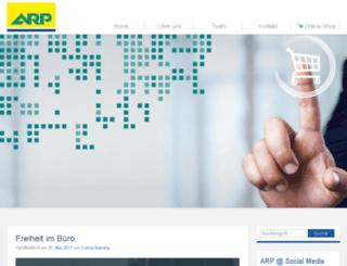 blog.arp.com screenshot