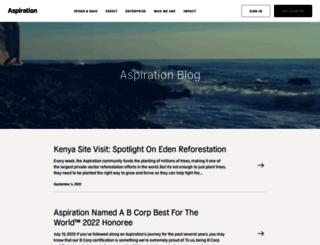 blog.aspiration.com screenshot