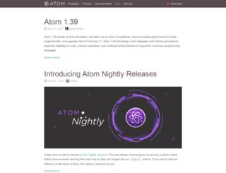blog.atom.io screenshot