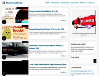 blog.atriumhosting.com screenshot