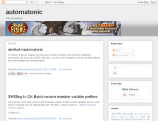 blog.automatonic.net screenshot