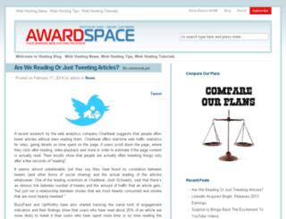 blog.awardspace.com screenshot