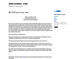 blog.aweissman.com screenshot