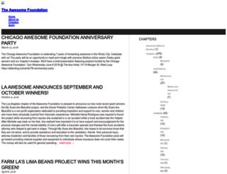 blog.awesomefoundation.org screenshot