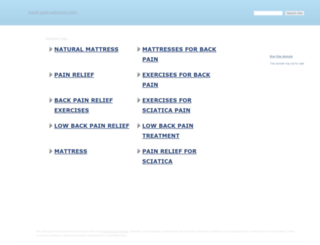 blog.back-pain-advisor.com screenshot