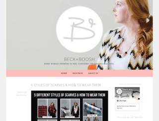 blog.beckandboosh.com screenshot
