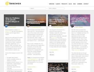 blog.beezwax.net screenshot