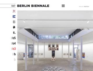 blog.berlinbiennale.de screenshot