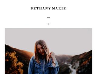 blog.bethanymarie.co screenshot
