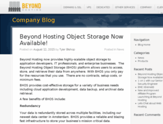 blog.beyondhosting.net screenshot