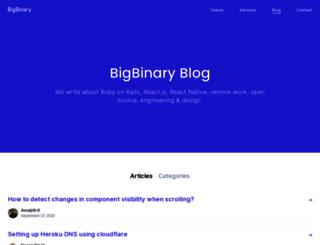 blog.bigbinary.com screenshot