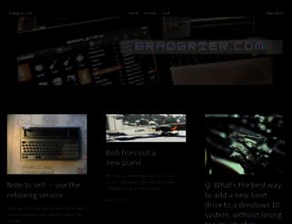 blog.bradgrier.com screenshot