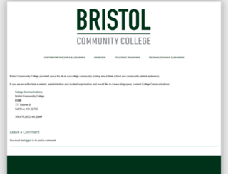 blog.bristolcc.edu screenshot