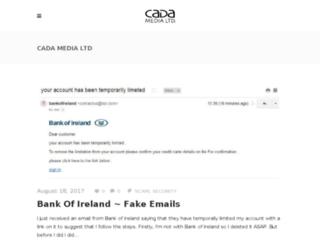 blog.cadamedia.ie screenshot