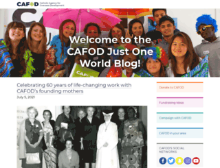 blog.cafod.org.uk screenshot