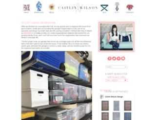 blog.caitlinwilson.com screenshot