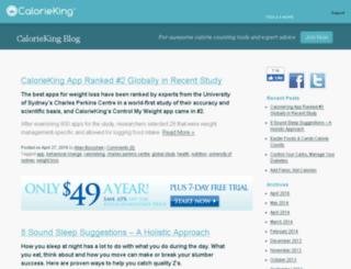 blog.calorieking.com screenshot