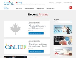 blog.canlii.org screenshot