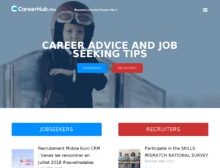 blog.careerhub.mu screenshot