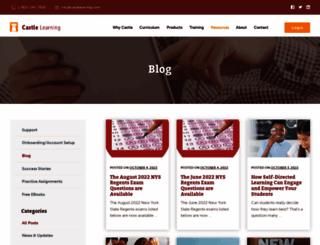 blog.castlelearning.com screenshot