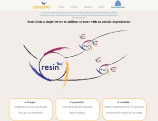 blog.caucho.com screenshot