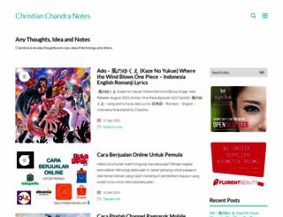 blog.christianchandra.com screenshot