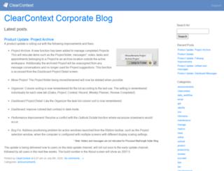 blog.clearcontext.com screenshot