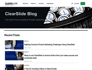 blog.clearslide.com screenshot