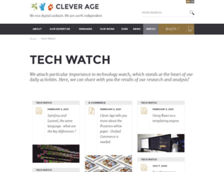 blog.clever-age.com screenshot
