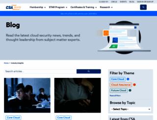 blog.cloudsecurityalliance.org screenshot