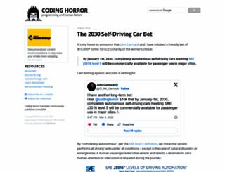 blog.codinghorror.com screenshot