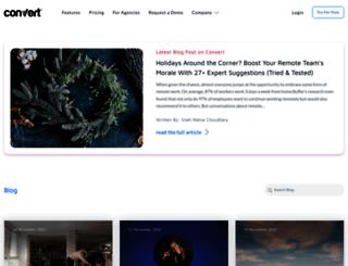 blog.convert.com screenshot
