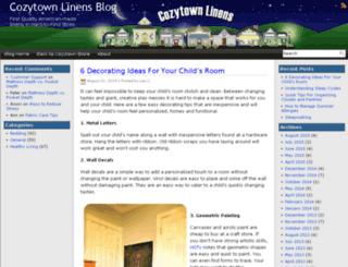 blog.cozytownlinens.com screenshot