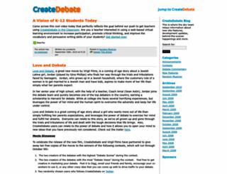 blog.createdebate.com screenshot