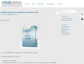 blog.creaweb06.fr screenshot