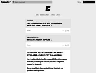 blog.criterioncast.com screenshot