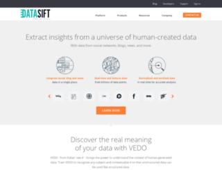 blog.datasift.com screenshot