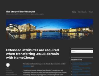 blog.davidkaspar.com screenshot