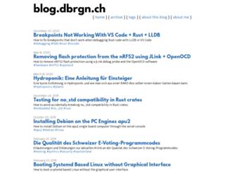 blog.dbrgn.ch screenshot