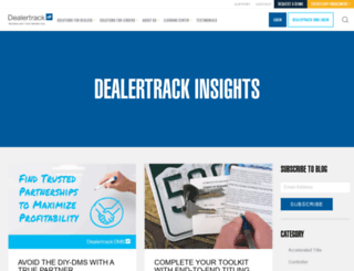 blog.dealertrack.com screenshot