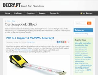 blog.decry.pt screenshot