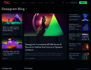 blog.deepgram.com screenshot