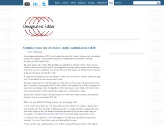 blog.designatededitor.com screenshot