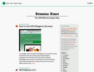 blog.devontechnologies.com screenshot