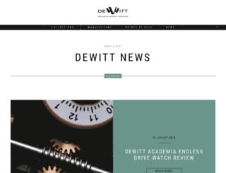 blog.dewitt.ch screenshot