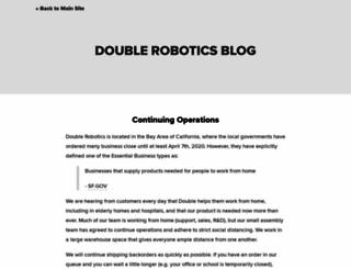 blog.doublerobotics.com screenshot