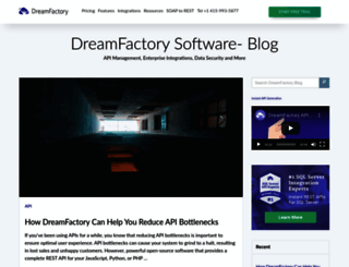 blog.dreamfactory.com screenshot